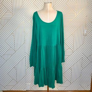 ASOS Curve Kelly Green Tiered Tunic Dress